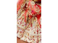 Beautiful red Indian tradition wedding bridal lengha