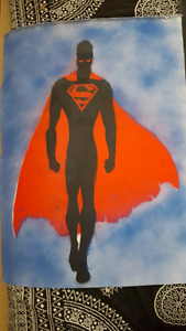 Superman spray painting