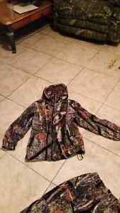 Kids insulated camo hunting clothes