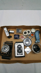 Vintage cameras bits and pieces cheap $30