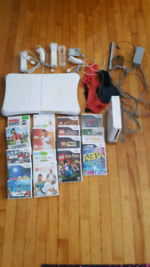 Original Wii with Wii Fit and 15 games