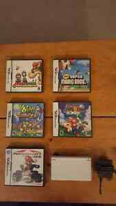 NINTENDO DS + 5 GAMES BUNDLE FRENZY!!