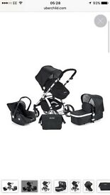 Ubberchild 3 in one travel system pram and car seat