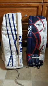 Jr. Goalie pads and equipment several sizes
