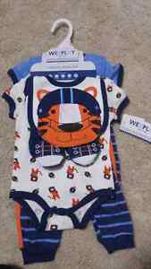 New boys tiger clothing layette set 3 - 6 months