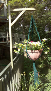 Deck Plant Hangers made from Recycled Wood