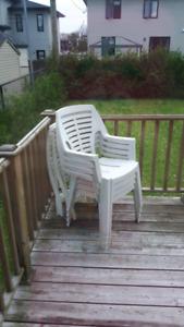Ensemble de 4 chaises d'extérieur