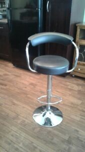 Black and Chrome Bar Stool