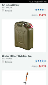 20 L military style fuel cans