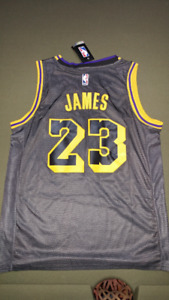 8866f15a278 Lebron James Lakers Away Black Jersey Brand New  70