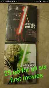 Today reduced all 6 star wars  25.oo only for all