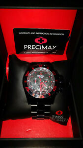 Brand New Precimax Men's Carbon Pro PX13231 Black Stainless