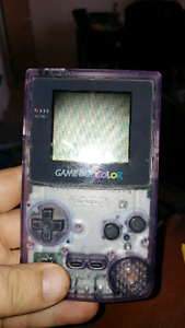 Gameboy Color Atomic Purple with Pokemon Yellow Game