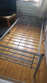 Silver framed bunk bed