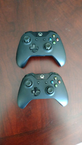 Two Xbox One Controllers