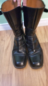 Mens CESARE PACIOTTI Leather Motorcycle Boot M 7.5 UK Size.