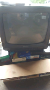 "Tv 14"" with convertor vhs"