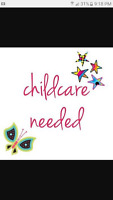 Home childcare needed for 2 children