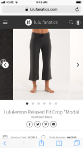 Lululemon size 6  relaxed fit crop