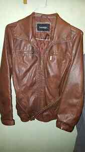 George Faux Leather Jacket
