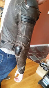 REV'IT Leather Motorcycle Jacket-Worn Once