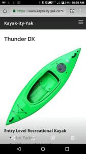 X-mas SALE!  Thunder sit-in kayak.  1 left! free paddle.