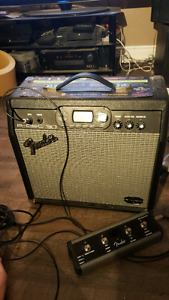 Fender G-dec 30 guitar amp with footswitch