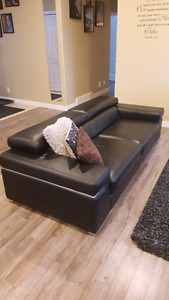 Real leather sofa from italy
