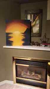 Sunset picture painted on wood(art) Peterborough Peterborough Area image 1