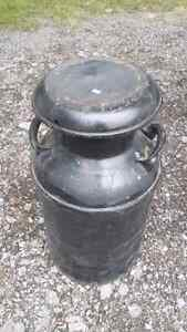 Vintage milk can with lid Peterborough Peterborough Area image 2