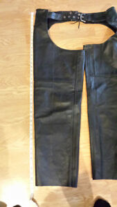 Unisex Motorcycle Chaps with braiding detail