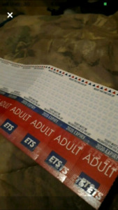40 Ets Bus tickets (pick up only)