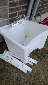Laundry tub and tap