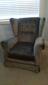 Wing back sofa chair