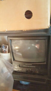 AC DC Small TV with VHS