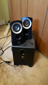 Powered woofer and speakers