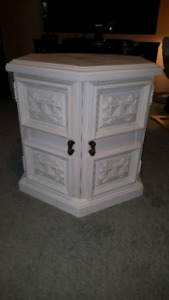 Vintage Hexagonal Solid Wood Shabby Chic