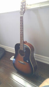 Epiphone Acoustic Guitar and Guitar Case