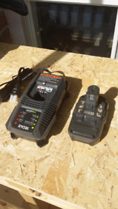 Ryobi One Battery and Charger
