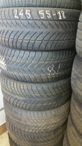 245 55 18 General winter tires. 70%. installed and balanced