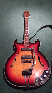 Vintage Hollow Body Guitar