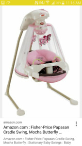 Beautiful baby swing