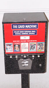 Coin Operated Hockey Baseball Card Vending Machine