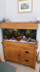 Tropical Fish Tank - Solid Oak - 200ltr
