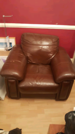 Two peice brown leather