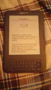 Amazon Kindle Model D00901 with faux leather cover $50 obo