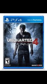 Uncharted 4 new in wrapping.