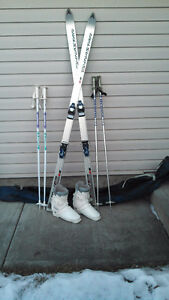 Two Sets of Downhill Ski Poles