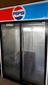 Two door cooler and one freezer
