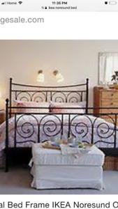 (Rare) IKEA- NORESUND Queen bed frame